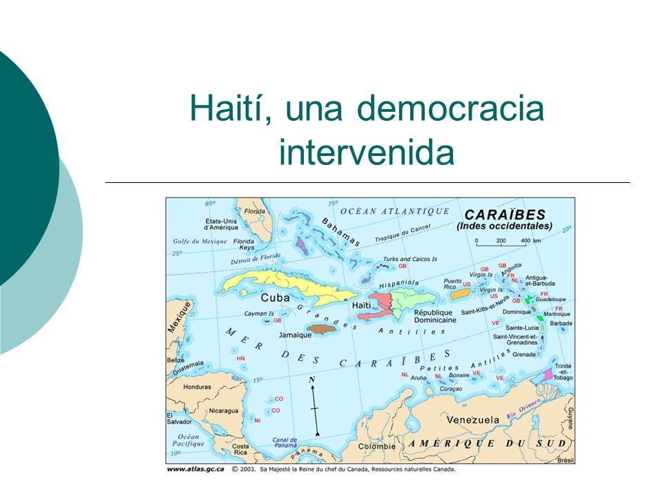 Introducción: un símbolo de la independencia Ex colonia francesa La primera independencia latinoamericana La primera Republica negra 1915: invasión norteamericana 1957-1986 : dictadura de los Duvalier