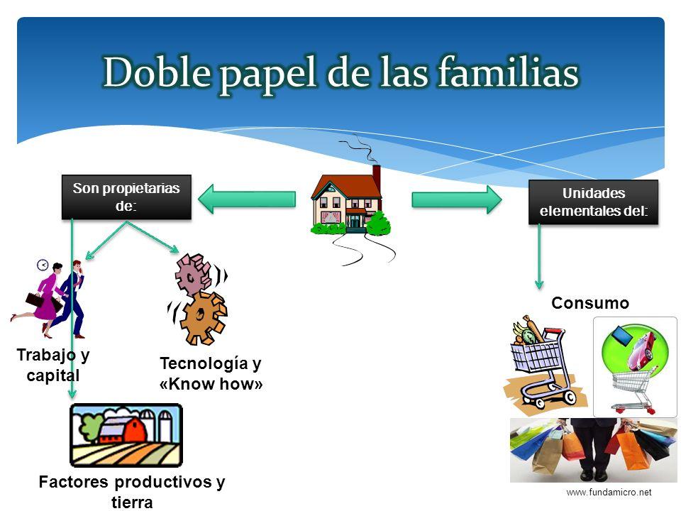 www.fundamicro.net Son propietarias de: Trabajo y capital Tecnología y «Know how» Factores productivos y tierra Unidades elementales del: Consumo