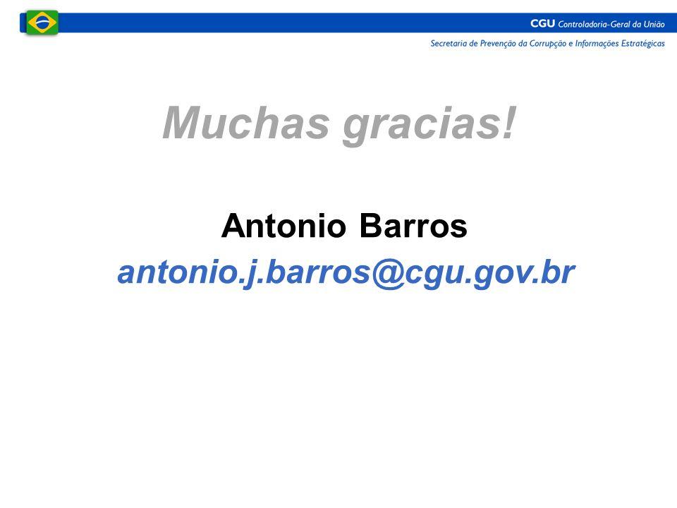 Muchas gracias! Antonio Barros antonio.j.barros@cgu.gov.br
