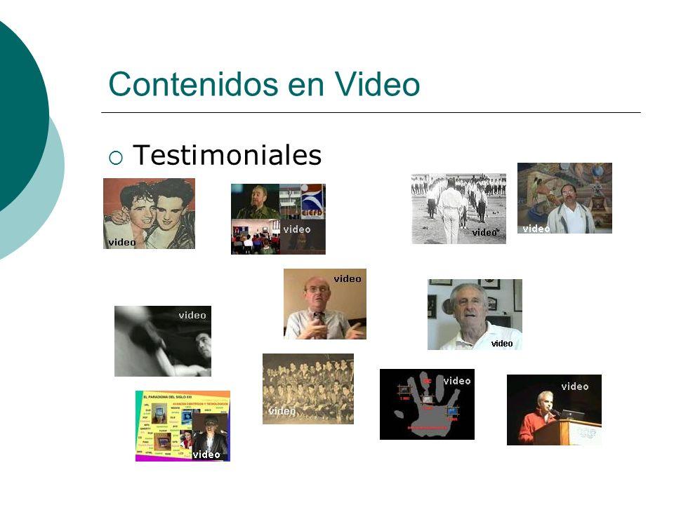 Contenidos en Video Testimoniales