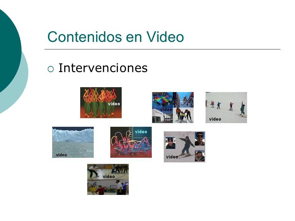 Contenidos en Video Intervenciones