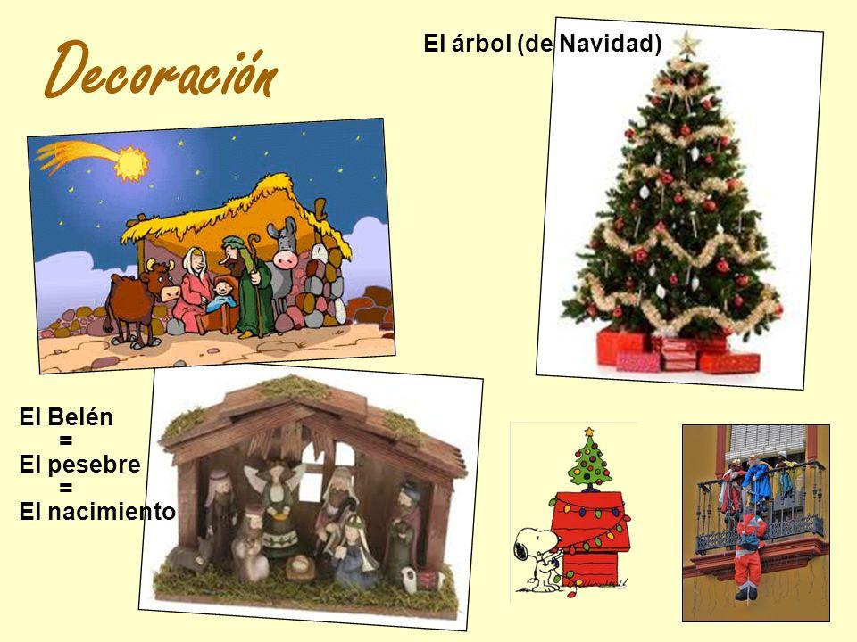 Decoración El Belén El pesebre El nacimiento = = El árbol (de Navidad)