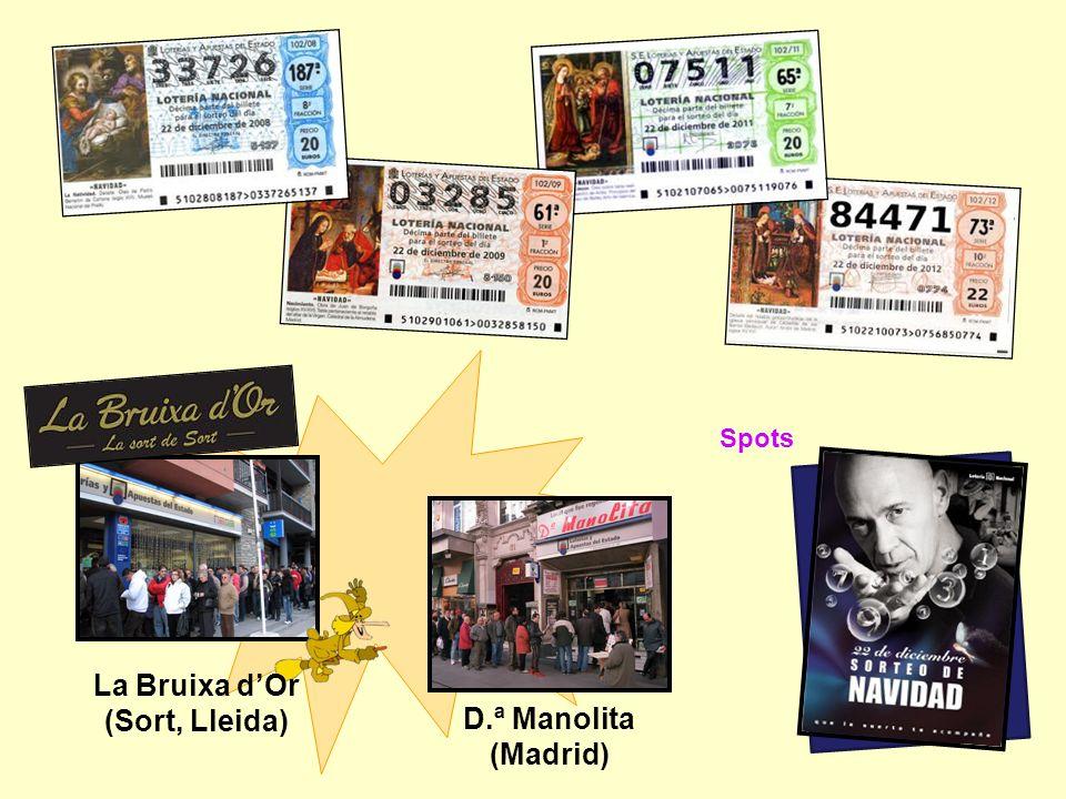 Spots D.ª Manolita (Madrid) La Bruixa dOr (Sort, Lleida)