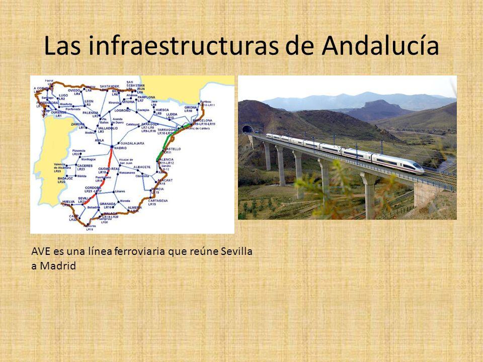 Las infraestructuras de Andalucía AVE es una línea ferroviaria que reúne Sevilla a Madrid