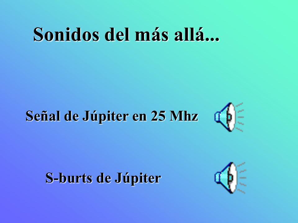 Señal de Júpiter en 25 Mhz S-burts de Júpiter Sonidos del más allá...