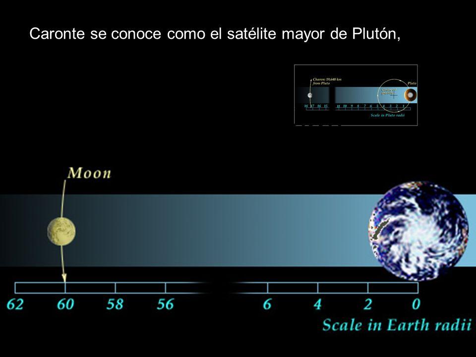 Caronte se conoce como el satélite mayor de Plutón, Caronte Tierra