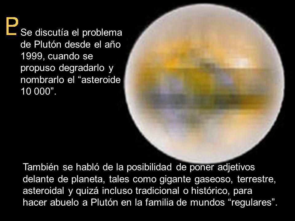 También se habló de la posibilidad de poner adjetivos delante de planeta, tales como gigante gaseoso, terrestre, asteroidal y quizá incluso tradiciona