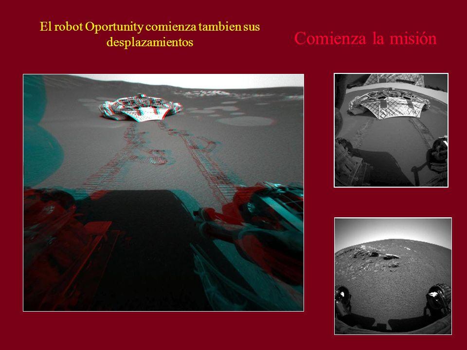 Comienza la misión El robot Oportunity comienza tambien sus desplazamientos
