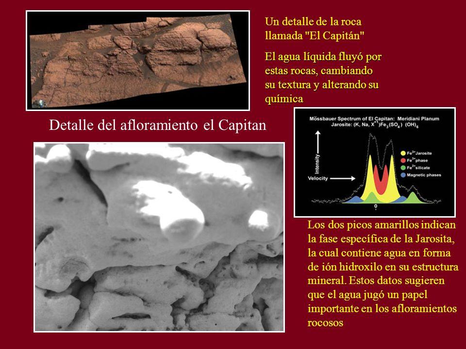 Detalle del afloramiento el Capitan Un detalle de la roca llamada