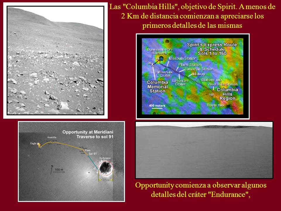 Las Columbia Hills , objetivo de Spirit.