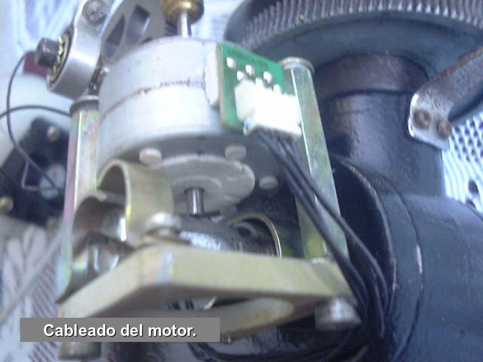 Cableado del motor.