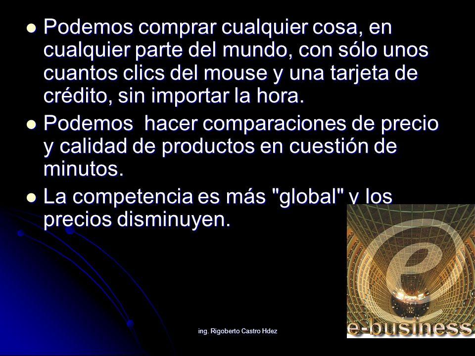 ing.Rigoberto Castro Hdez BARRERAS PARA COMPRAR ONLINE: Desconfianza en las formas de pago.