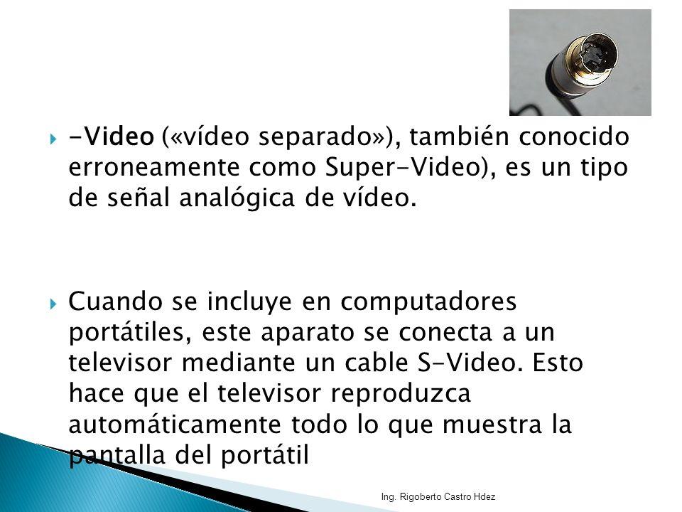 -Video («vídeo separado»), también conocido erroneamente como Super-Video), es un tipo de señal analógica de vídeo. Cuando se incluye en computadores