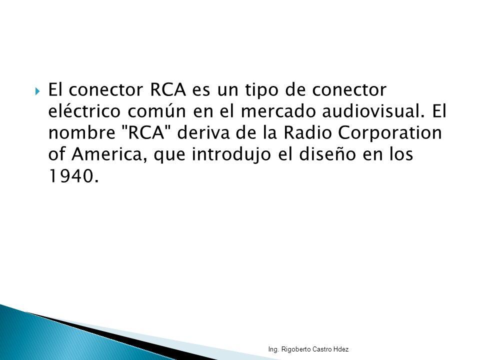 El conector RCA es un tipo de conector eléctrico común en el mercado audiovisual. El nombre