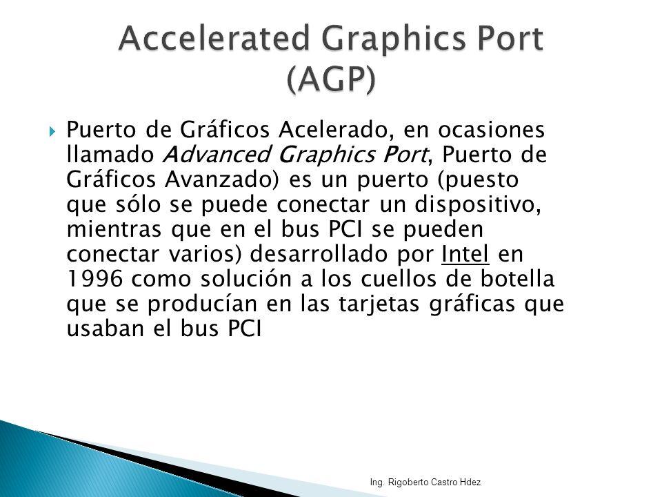 Puerto de Gráficos Acelerado, en ocasiones llamado Advanced Graphics Port, Puerto de Gráficos Avanzado) es un puerto (puesto que sólo se puede conecta