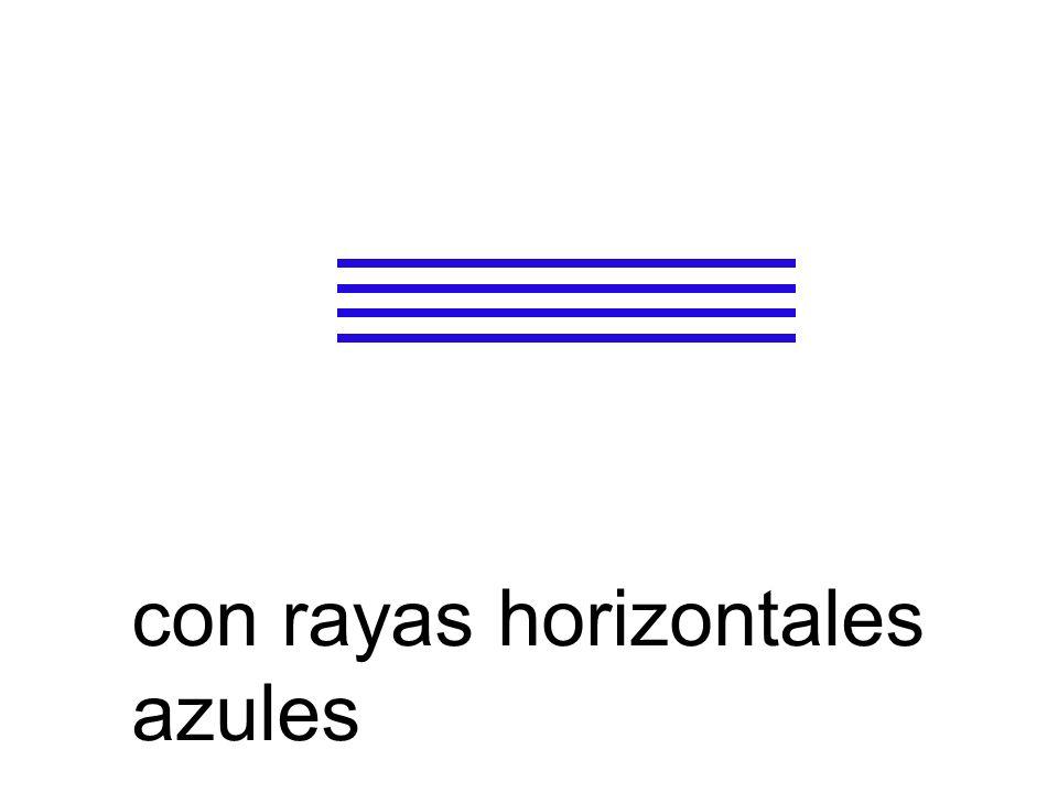 con rayas horizontales azules