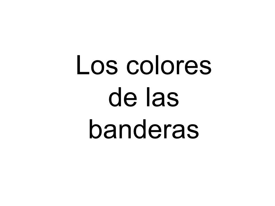 Los colores de las banderas