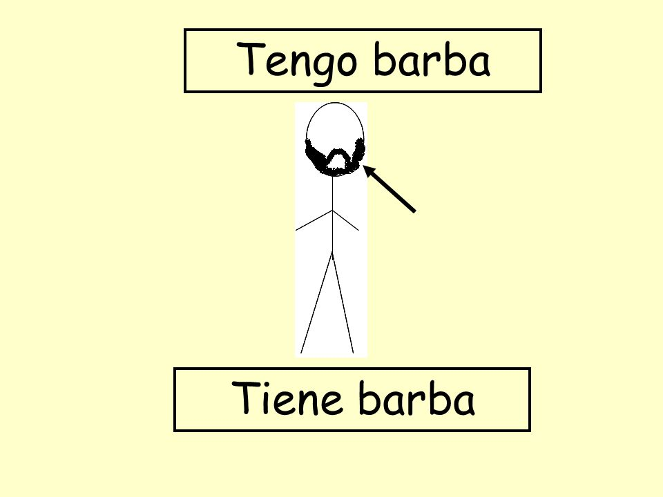 Tiene barba Tengo barba