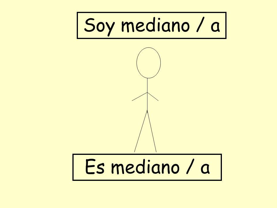 Es mediano / a Soy mediano / a