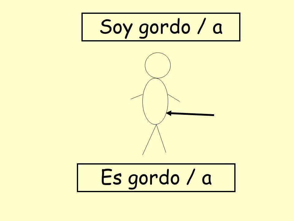 Es gordo / a Soy gordo / a