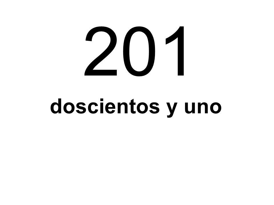 201 doscientos y uno