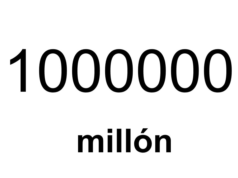 1000000 millón