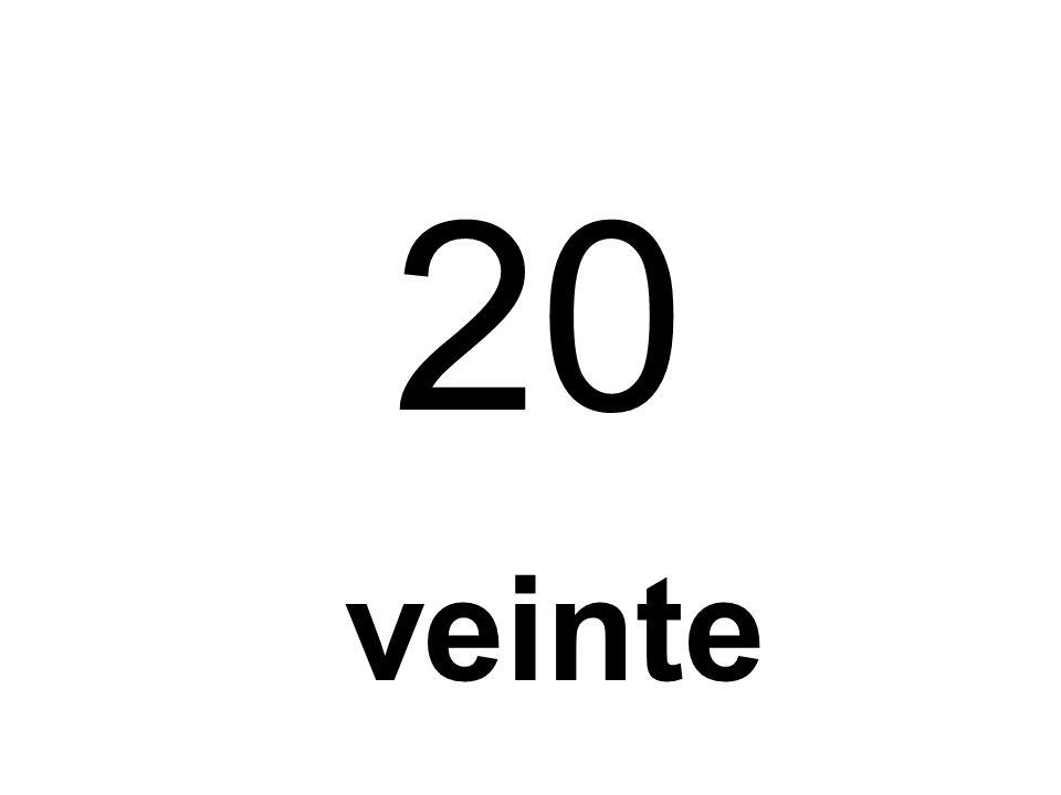 25 veinticinco etc BUT...