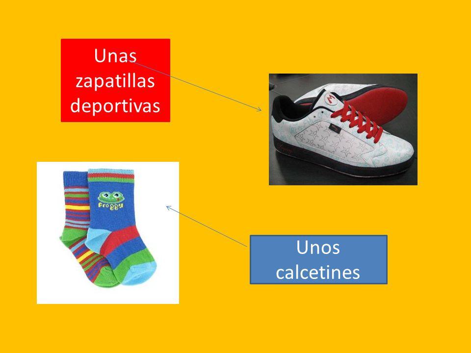 Unas zapatillas deportivas Unos calcetines