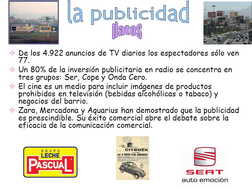De los 4.922 anuncios de TV diarios los espectadores sólo ven 77.