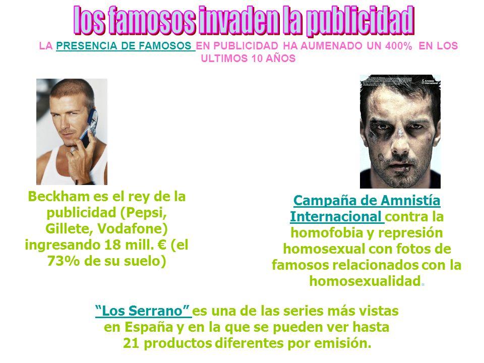 Campaña de Amnistía Internacional Campaña de Amnistía Internacional contra la homofobia y represión homosexual con fotos de famosos relacionados con la homosexualidad.