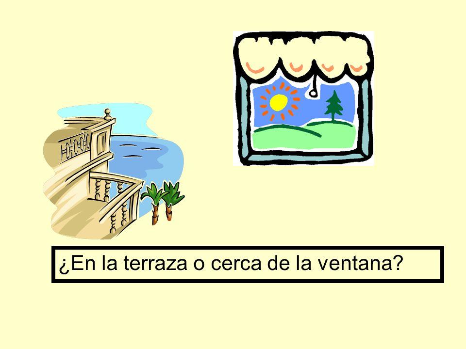 ¿En la terraza o cerca de la ventana