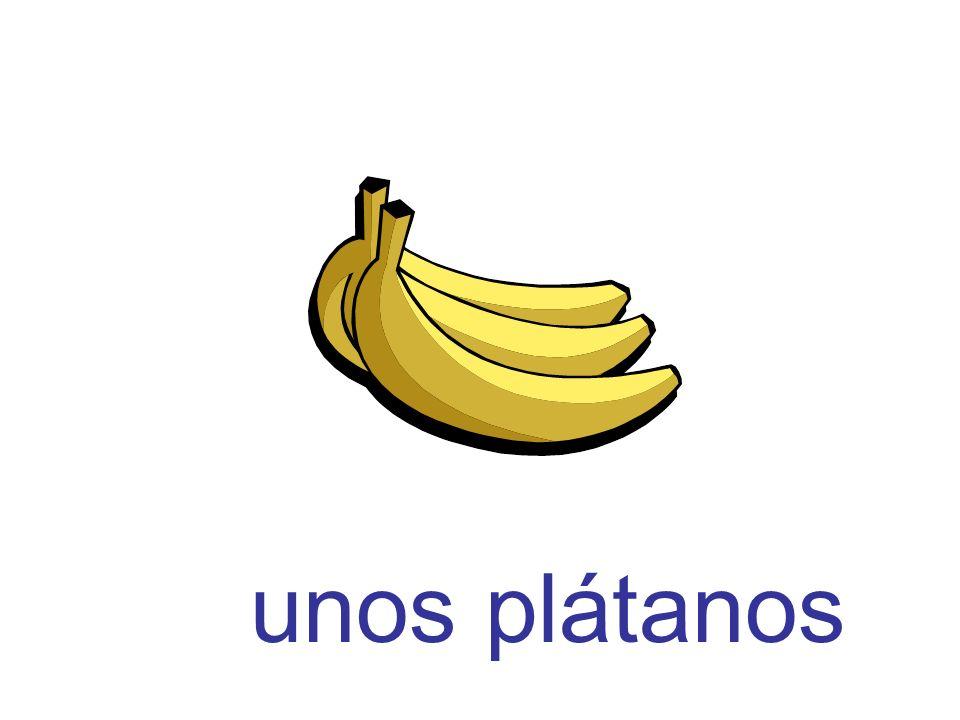 unos plátanos