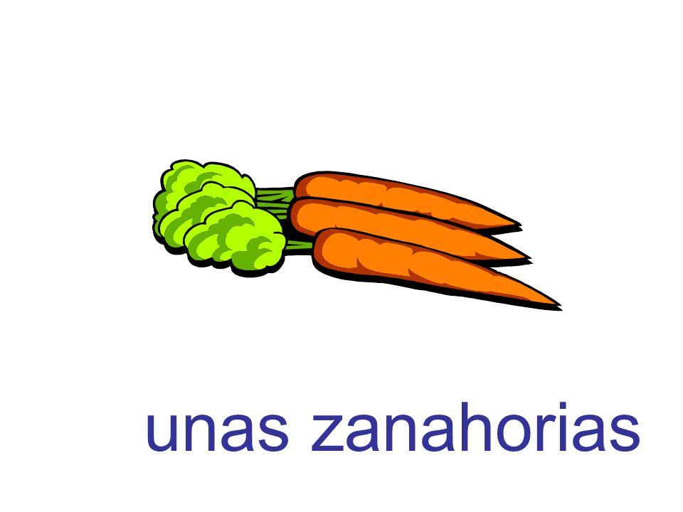 unas zanahorias