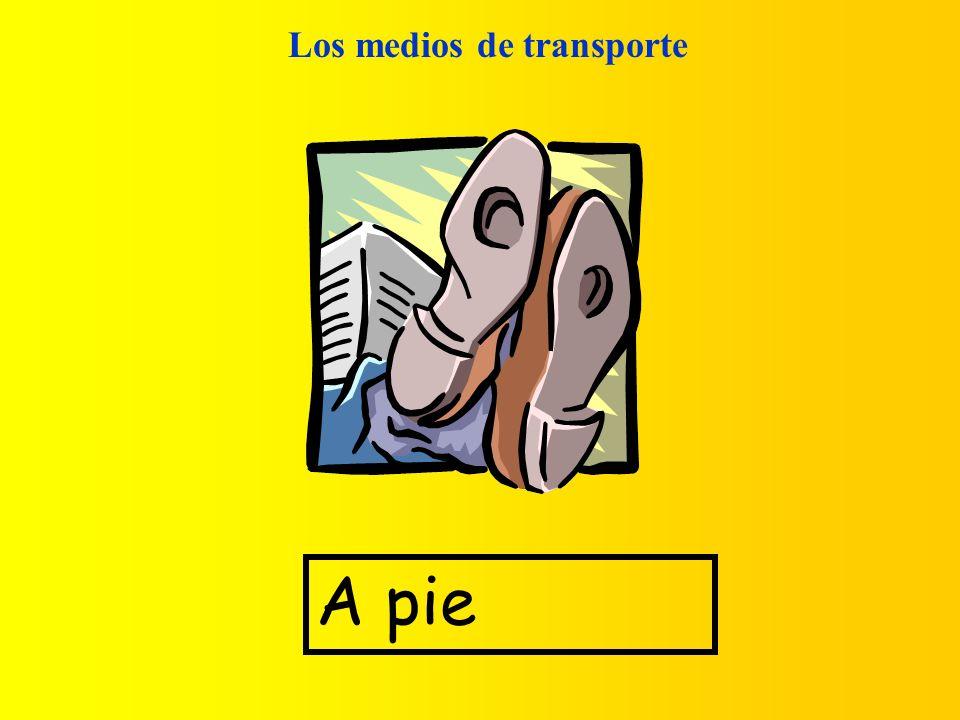 Los medios de transporte A pie