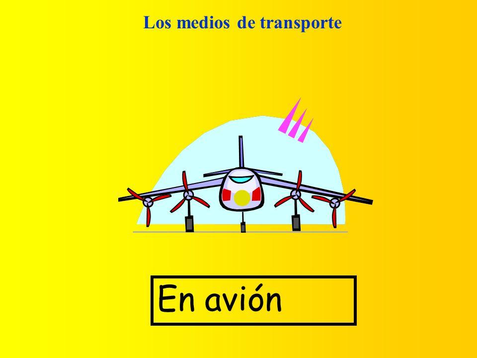 Los medios de transporte En avión
