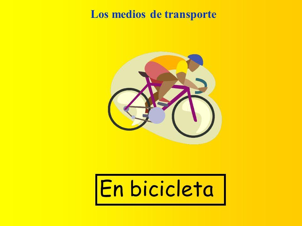 Los medios de transporte En bicicleta