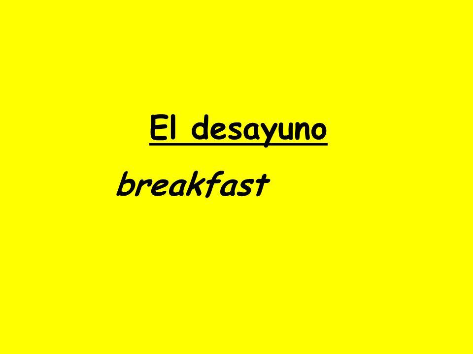 Nada Nunca desayuno No me gusta desayunar ¿Qué comes para el desayuno.