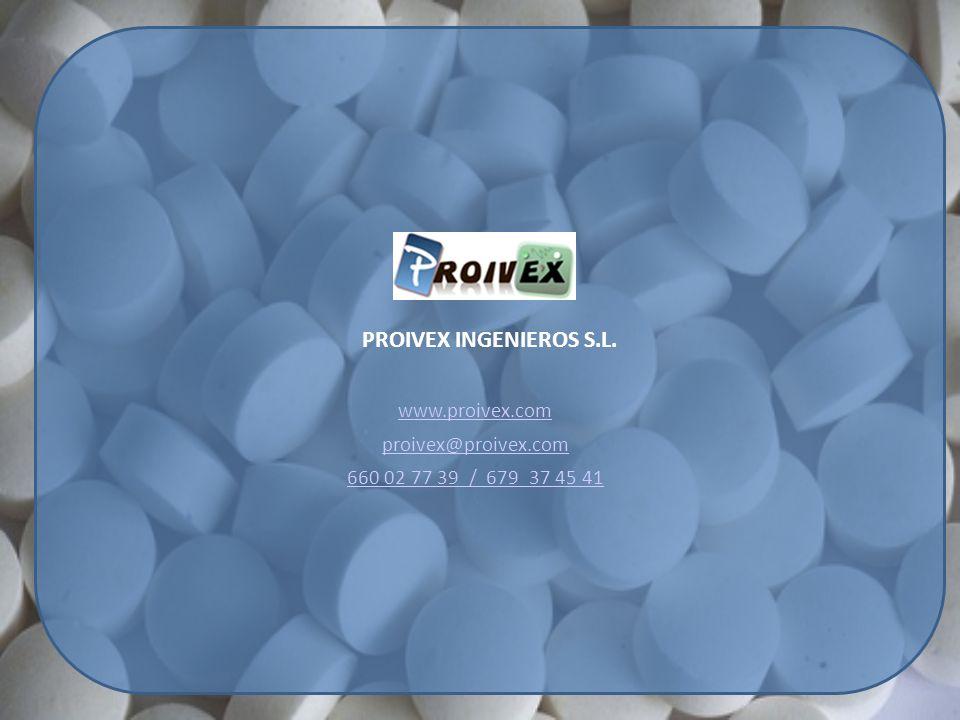 PROIVEX INGENIEROS S.L. www.proivex.com proivex@proivex.com 660 02 77 39 / 679 37 45 41
