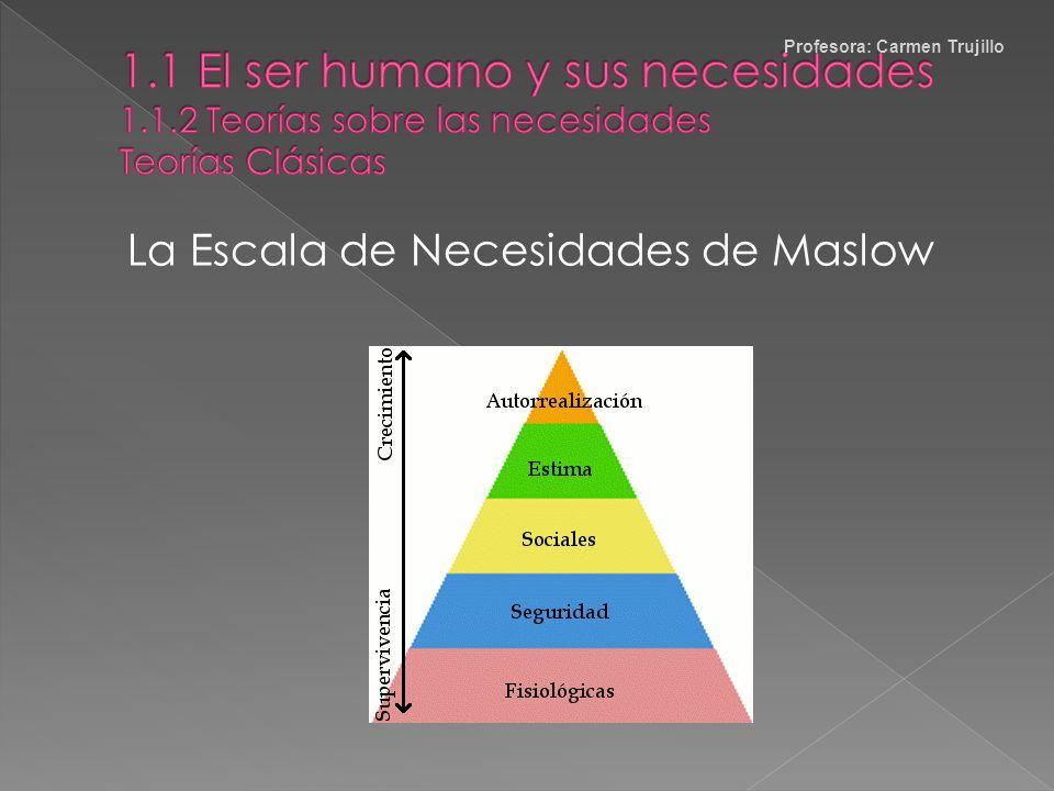Necesidades Universales y Condicionadas Universales: iguales en todas las culturas y períodos históricos, sólo varía el modo de satisfacerlas. Condici
