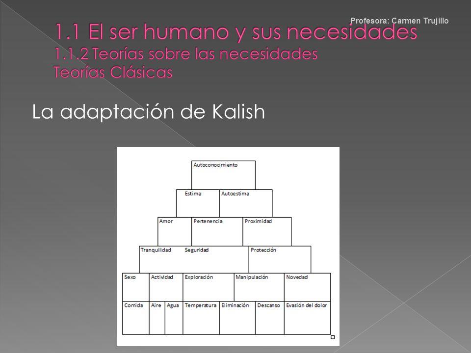 La Escala de Necesidades de Maslow Profesora: Carmen Trujillo