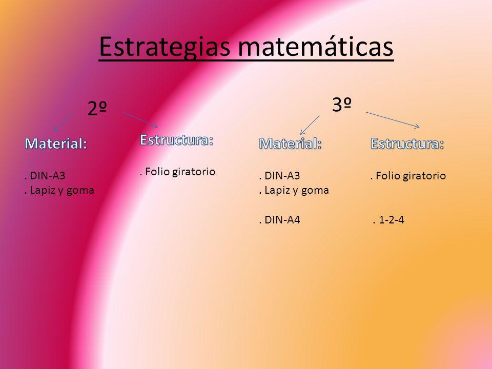 Estrategias matemáticas 2º 3º