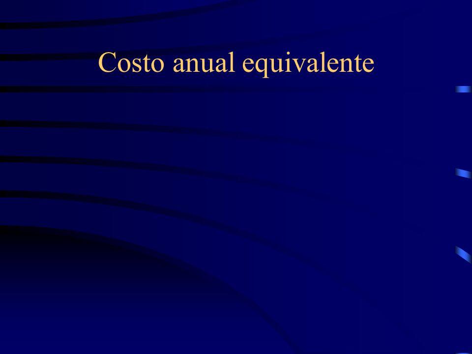 Costo anual equivalente