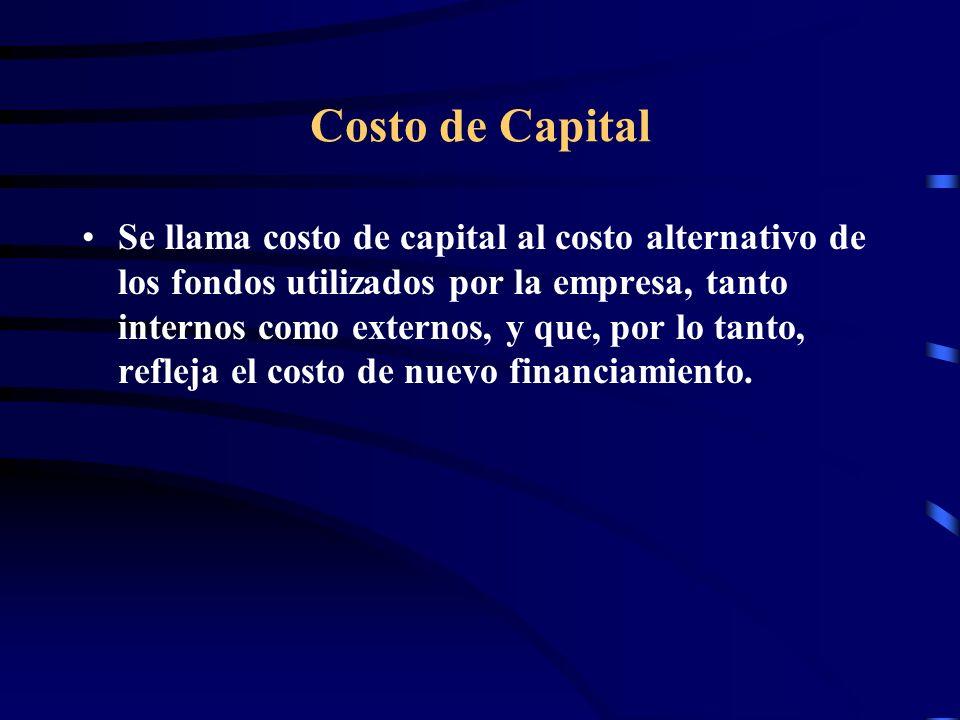 Ejemplo WACC Una empresa usa solamente deuda y capital para financiarse, y mantiene una deuda por 30 millones que paga un interés de 8%, mientras que su capital asciende a 50 millones.