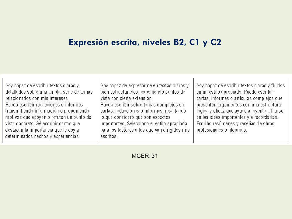 Referencias VVAA, 1994, Plan curricular del Instituto Cervantes (PCIC).