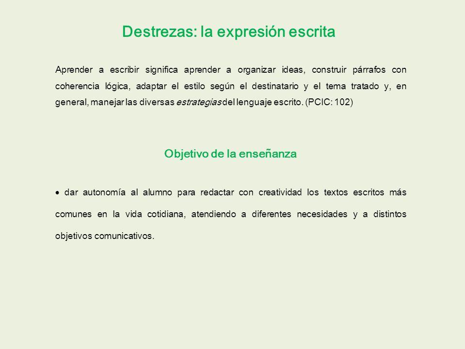 Expresión escrita, niveles B2, C1 y C2 MCER: 31