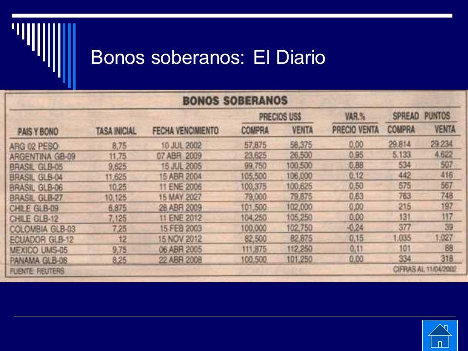 Bonos soberanos: El Diario
