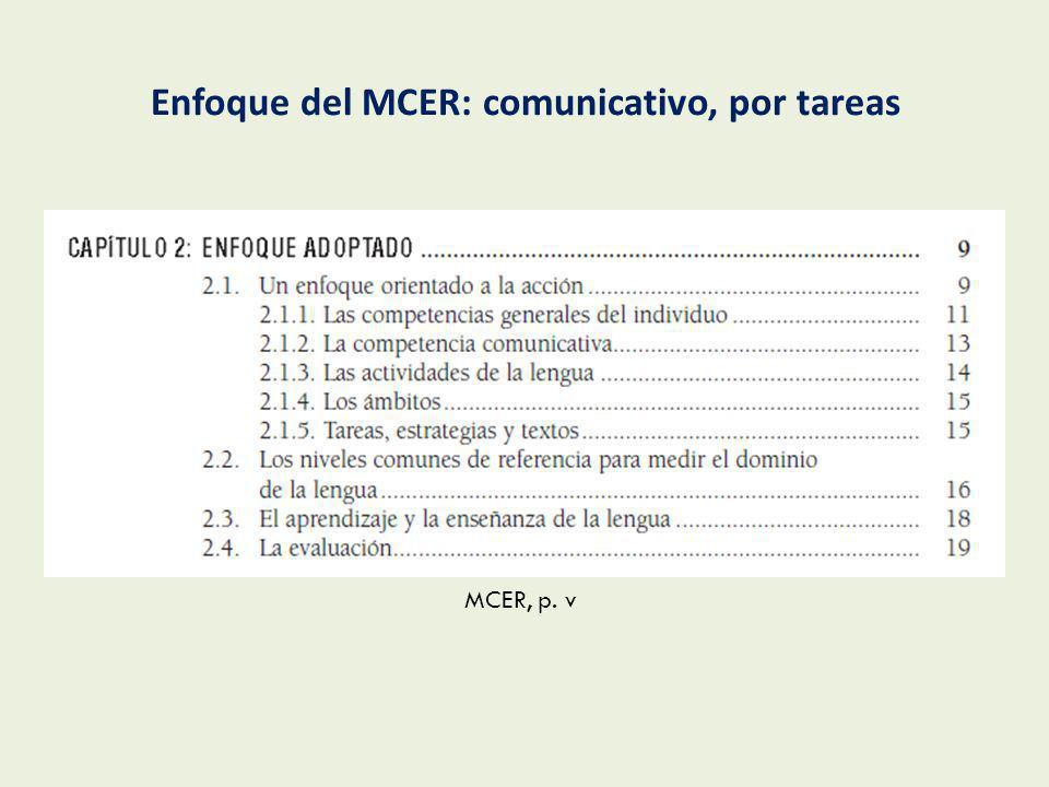 MCER, p. v-vi