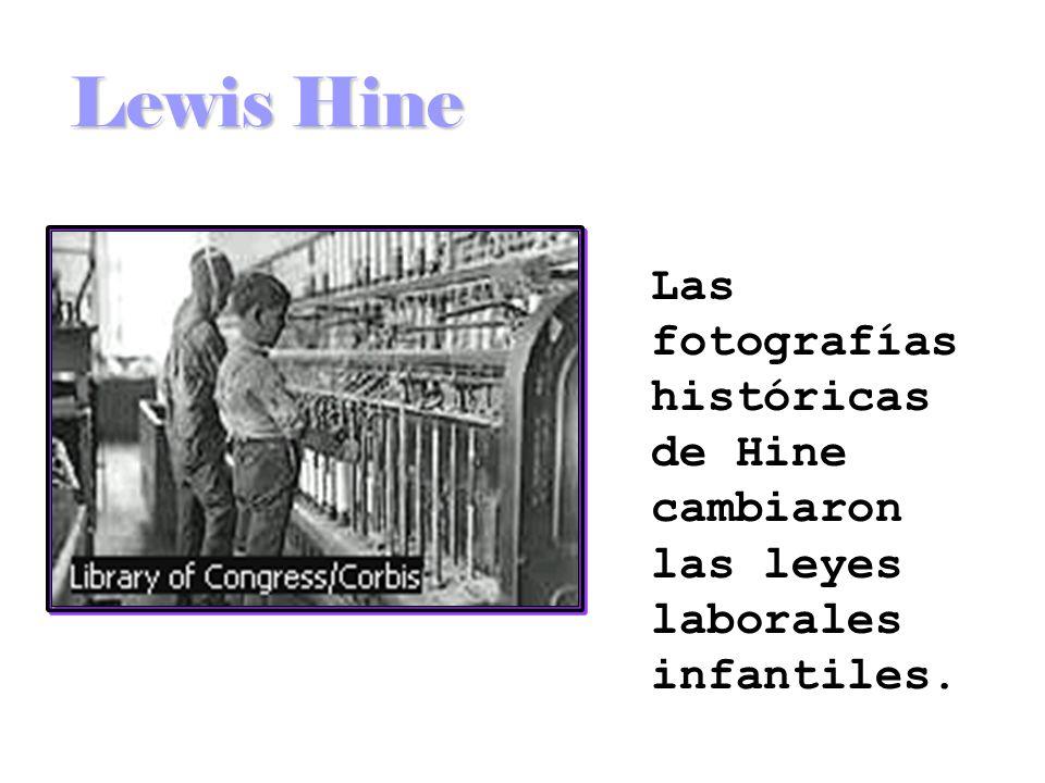 Las fotografías históricas de Hine cambiaron las leyes laborales infantiles.