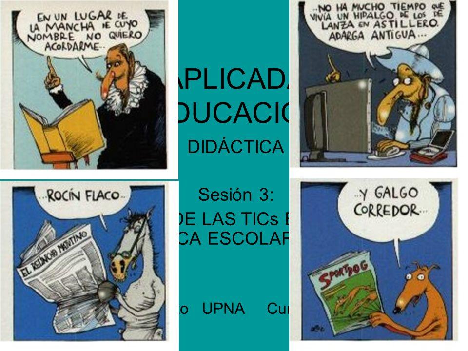 NNTT APLICADAS A LA EDUCACIÓN DIDÁCTICA Sesión 3: ORGANIZACIÓN DE LAS TICs EN LOS CENTROS LA BIBLIOTECA ESCOLAR COMO CRAI Francisco Soto UPNA Curso 20