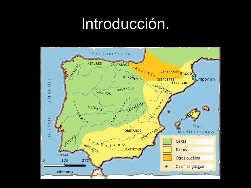 Introducción.218 a. C. Llegada de los romanos a la Península Ibérica (Ampurias).